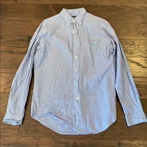 Navy checked button up